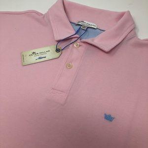 Peter Millar Crown Finish Pink Polo Shirt